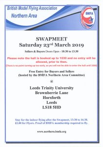 BMFA Northern Area Swapmeet 2019 @ Leeds Trinity University | Horsforth | England | United Kingdom